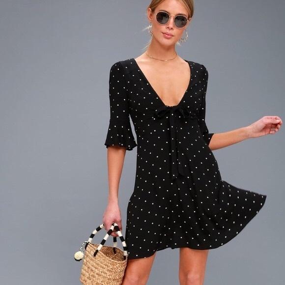 5b032cb871e5b NWT FREE PEOPLE black white polka dot dress size 2